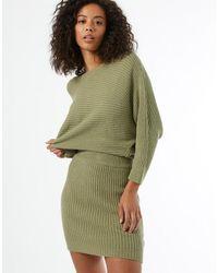 Miss Selfridge Knitted Mini Skirt Co-ord - Green