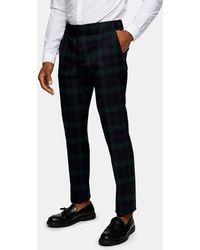 TOPMAN Watch Check Skinny Suit Trousers - Black