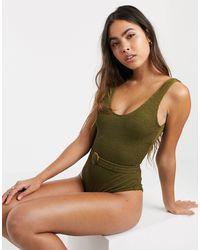 Y.A.S . - Oahu - Costume da bagno con fibbia - Verde