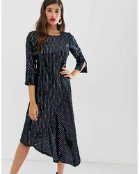 Closet Wardrobe Assymetric Dress - Black