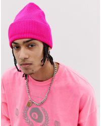 ASOS Gorro en rosa neón