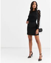 ASOS Tailored A-line Mini Skirt - Black