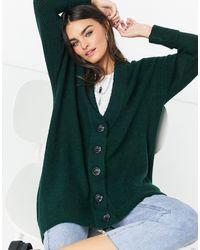 Object Oversized Fluffy Cardigan - Green