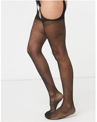 Ann Summers Glossy Suspender Style Tights - Black