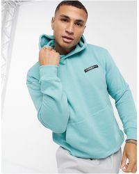 Mennace Aftermath Hoodie With Rubber Logo - Blue