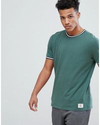 Abercrombie & Fitch - Varsity Tipped Ringer T-shirt In Green - Lyst