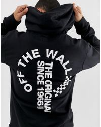 Vans - Hoodie With Back Print In Black - Lyst