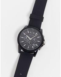 Armani Exchange Часы С Силиконовым Ремешком Ax1326 Outerbanks-черный