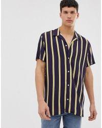 Jack & Jones - Originals Revere Collar Shirt With Vertical Stripe - Lyst