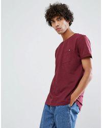Clean Cut Copenhagen Premium Slub Pocket T-shirt - Red