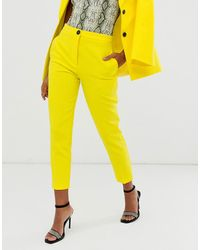 ASOS Pop Slim Suit Trousers - Yellow