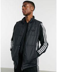 adidas Originals - Черный Жилет С Тремя Полосками -черный Цвет - Lyst