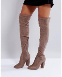 Lipsy - Over The Knee Sock Boot - Lyst