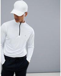 Calvin Klein - Tech Half Zip Sweat In White C9304 - Lyst