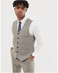 Heart & Dagger Slim Waistcoat - Gray