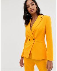 ASOS Orange Pop Suit Blazer
