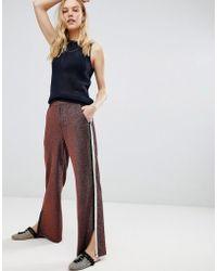 Maison Scotch - Glitter Side Stripe Disco Trousers - Lyst