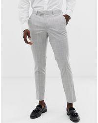 Moss Bros Moss London Slim Suit Trouser - Grey