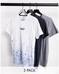Hollister In esclusiva per ASOS - - Confezione da 3 t-shirt girocollo multi con logo centrale - Multicolore
