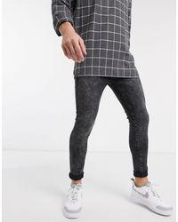 New Look Jeans super skinny lavaggio acido neri - Nero