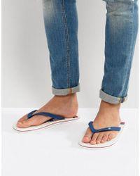 Hollister - Flip Flops Don't Even Trip Print In White - Lyst
