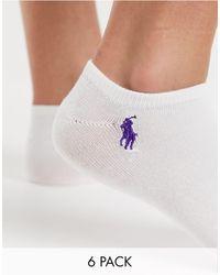 Polo Ralph Lauren Набор Из 6 Пар Спортивных Носков С Амортизирующим Эффектом -мульти - Многоцветный