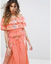 RahiCali - Rosy Off Shoulder Top - Lyst
