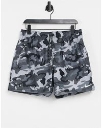 Nike Swimming 5 Inch Camo Volley Shorts - Black