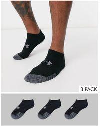 Under Armour Training - Heat Gear - Confezione da 3 calzini sportivi neri - Nero