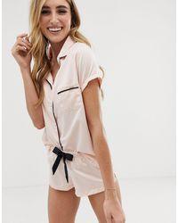 Bluebella Abigail Satin Short Pyjama Set - Pink