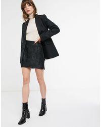 & Other Stories Jacquard Pelmet Mini Skirt - Black
