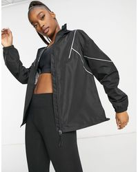 ASOS 4505 Water Resistant Running Jacket With Mouth Cover - Black