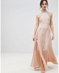 ASOS Декорированное Платье Макси С Открытой Спиной Asos - Многоцветный