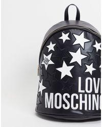 Love Moschino Черный Рюкзак Со Звездами И Логотипом -черный Цвет