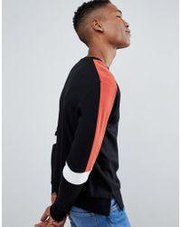 Stradivarius Sweat-shirt color block - Noir