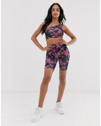 ASOS - Two-piece legging Shorts In Lightning Print - Lyst