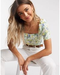 Abercrombie & Fitch Puff Sleeve Blouse - Multicolour