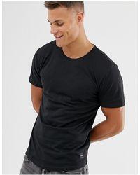 Only & Sons Lang T-shirt Met Ronde Zoom - Zwart