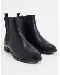 Accessorize Черные Ботинки Челси На Плоской Подошве -черный Цвет