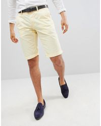 Esprit - Slim Fit Chino Shorts In Yellow - Lyst