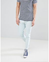 ASOS Skinny Twisted Seam Jeans - Blue