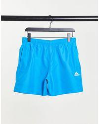 adidas Синие Однотонные Шорты Для Плавания Clx-голубой - Синий
