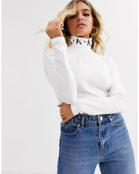 Calvin Klein Водолазка С Монограммой -белый