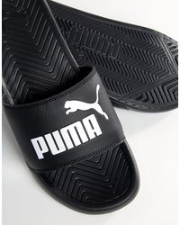 PUMA Черные Шлепанцы Popcat 36026510-черный