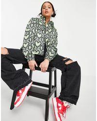Love Moschino Зеленая Куртка С Капюшоном И Принтом В Виде Сердечек -зеленый Цвет