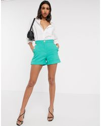 River Island Button Shorts - Green