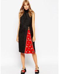 ASOS - A V Robertson For Funnel Neck Dress With Embellished Insert - Lyst