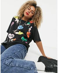 Love Moschino T-shirt lolly doll - Noir