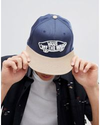 Vans - Home Team Flexfit Cap In Blue - Lyst