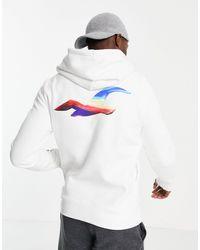 Hollister Худи Белого Цвета С Принтом На Спине И Рукавах От Комплекта -белый - Многоцветный